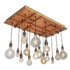 traditional modern wooden chandelier