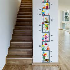 Wall Decal Size Chart Us 3 46 Robot Upstairs Height Measure Wall Sticker For Kids Children Room Decor Growth Chart Wall Decal Art Boys Room Decor In Wall Stickers From