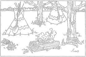 Small Picture Native Coloring Page Free Download