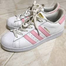 womens adidas superstars size 7 adidas shoes baby pink superstar women size 7 poshmark