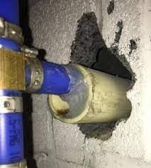 pex pipe below grade basement wall