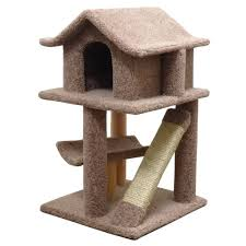 dazzling unique cat tree house design ideas with brown color