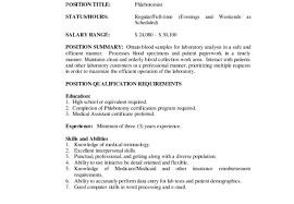 Phlebotomy Resume Templates Free Phlebotomy Resume Examples