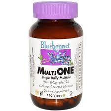 Bluebonnet Nutrition <b>Multi One</b>, <b>Single Daily</b> Multiple, 120 Vcaps ...
