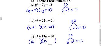 Factor Trinomials Worksheet | Homeschooldressage.com