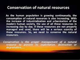 conservation of natural resources ppt 2 why should we conserve natural