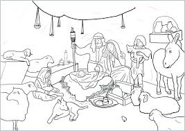 Free Printable Nativity Coloring Pages Nativity Scene Coloring Pages