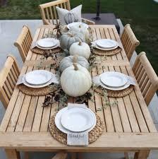 Outdoor Table Decor Neutral Fall Outdoor Tablescape Cape Cod Farmhouse