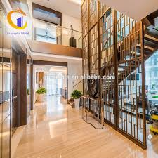 Laser Cut Screening Stair Decorative Wall Art Screen Stainless Steel  Decorative Perforated Metal Decor Dividers
