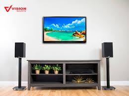 vision mounts universal high gauge cold rolled steel speaker stands 2 stands for satellite speakers bookshelf speakerore