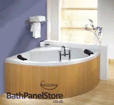 custom made beech mdf flexible bath panel ideal for corner bath and offset baths