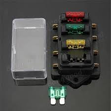 car 12v 24v 4 way circuit atc ato standard blade fuse box holder 12 volt fuse block with ground at Fuse Box 12v