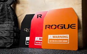 rogue weight vest plates black red and orange