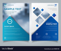 Patient Brochure Templates Brochure Layout Design Template Annual Report Vector Image