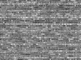 old brick wall mural black and white
