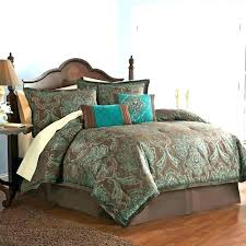 turquoise brown bedding teal and brown bedding selections throughout with regard to comforter set queen