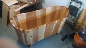 a hickory wood tub from er driftwood tubs