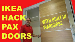 ikea pax doors with built in wardrobe