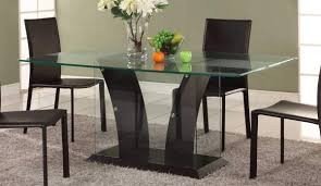 glass dining table. Dining Room Furniture : Contemporary Table Designs In Woodand Glass With Top Luxury Wood And