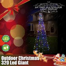 Giant Net Lights Details About Outdoor Christmas Lights 3m Giant Tree 320 Led String 7 Flashing Multi Colour