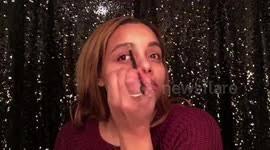 talk through makeup application