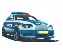Kuchenaufleger Din A 4 Polizeiauto