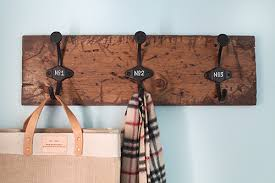 Distressed Wood Coat Rack DIY COAT RACK LAUNDRY ROOM UPDATE 100th House on the Left 62