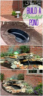 diy patio pond: diy backyard pond amp landscape water feature