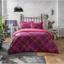 diagonal check plum luxury duvet set pillow case reversible bedding king size 266912 p5612 15358 image jpg