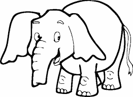 Small Picture Coloring Page Of Elephant Easy To Color Pages Ba Mammals Gt