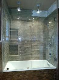 glass shower and tub enclosure near doors bathtub for enclosures
