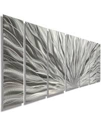 silver plumage 7 piece metal wall art set  on silver grey metal wall art with new savings on silver plumage 7 piece metal wall art set 68 x24 x2