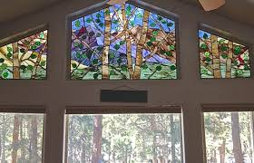 stained glass brings beauty value to denver area mountain homes cabins