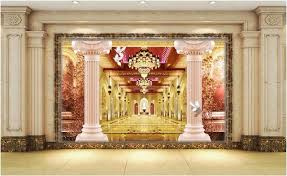 3d wallpaper room picture roman pillars lobby home decor painting