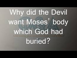 Image result for dispute over the body of moses