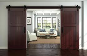 rustic sliding barn doors ingenious living rooms that showcase the beauty  of made ...