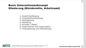 Unternehmenskonzept Erstellen Businessplan Experte