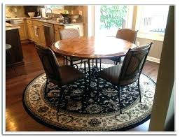 what size rug for dining room under round table area tribblogs com