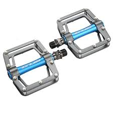 Bike Pedal, <b>1 Pair Aluminum Alloy</b> Cycling Flat Pedal Set for ...