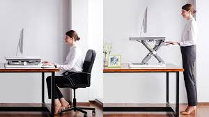 adjule sit stand desktop workstation desk riser