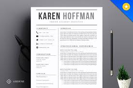 Contemporary Resume Templates Inspiration Modern Resume Template Resume Templates Creative Market Pro