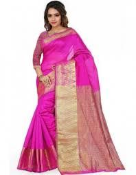 beauteous rani pink saree beauteous pink blue