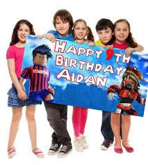 happy birthday customized banners roblox happy birthday personalized customized banner
