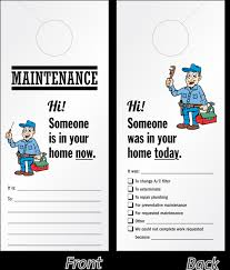 cool door hangers. Maintenance Personnel In Your Home Door Hanger Cool Hangers