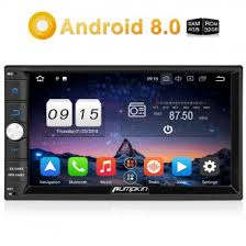pumpkin android 8 0 universal car stereo radio double din 7 inch car stereo radio static at Car Stereo Radio