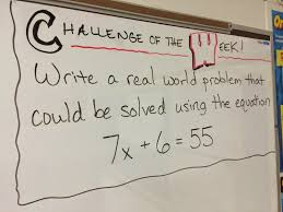 middle school math man challenge of the week ideas of 6th grade algebraic equations word problems
