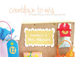 Cute little presents for the 12. Diy Bridal Shower Advent Calendar
