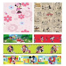 Minnie Mouse Bedroom Wallpaper Disney Mickey Amp Minnie Mouse Wallpapers And Borders Kids