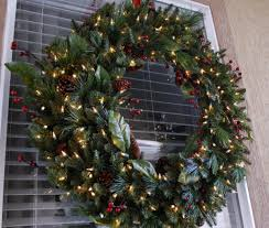 cool captivating decoration using prelit wreath prelit wreaths decor and lights lighted outdoor with large lighted
