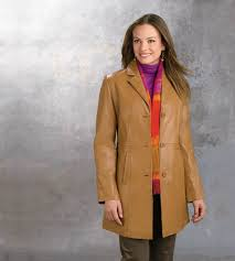 las classic lambskin walking coat cognac